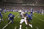 Auburn wide reciever Terrell Zachery is tackled by UK defenders at Commonwealth Stadium on Saturday, Oct. 9, 2010. Photo by Scott Hannigan | Staff