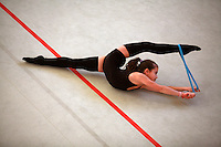 Denitza Andreeva of Bulgaria (junior) trains after Schmiden Tournament on March 11, 2007 at Schmiden, Germany.