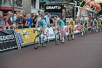 WIELRENNEN: SURHUISTERVEEN: 05-08-2014, Profronde Surhuisterveen, Lieuwe Westra voor Alessandro Vanotti en Vincenzo Nibali, ©foto Martin de Jong