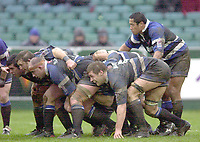 31/01/2004 Parker Pen Challenge Trophy.Bath Rugby v Beziers.Bath Front eight pack down....   [Mandatory Credit, Peter Spurier/ Intersport Images].