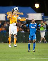 SANTA CLARA, CA – OCTOBER 16: Houston Dynamo defender Bobby Boswell (32)during a soccer match at Buck Shaw Stadium, October 16, 2010 in Santa Clara, California. Final score San Jose Earthquakes 0, Houston Dynamo 1.