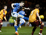 Motherwell v St Johnstone..30.12.15  SPFL  Fir Park, Motherwell<br /> Steven MacLean slices this late shirt wide of the post<br /> Picture by Graeme Hart.<br /> Copyright Perthshire Picture Agency<br /> Tel: 01738 623350  Mobile: 07990 594431