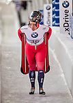 8 January 2016: Micaela Widmer, competing for Switzerland, carries her sled off the track after her second run of the BMW IBSF World Cup Skeleton race with a combined 2-run time of 1:52.79, earning a 16th place finish for the day at the Olympic Sports Track in Lake Placid, New York, USA. Mandatory Credit: Ed Wolfstein Photo *** RAW (NEF) Image File Available ***