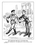 """The Goose-Step for Italy, or Fitness Wins. General Goering: """"Bravissimo, Duce! As you rightly say, this is no step for pot-bellies, weaklings and half-men."""""""