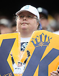 Seattle Mariners' fan holds a Felix Hernandez poster before the Mariners  season home opener against the Los Angeles Angels April 6, 2015 at Safeco Field in Seattle.  The Mariners beat the Angels 4-1.  ©2015. Jim Bryant Photo. ALL RIGHTS RESERVED.