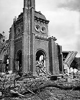 Roman Catholic cathedral, Nagasaki, ca.  1945. (Corps of Engineers)<br /> Exact Date Shot Unknown<br /> NARA FILE #:  077-AEC-52-4457<br /> WAR &amp; CONFLICT BOOK #:  1243
