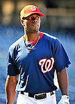 21 June 2010: Washington Nationals' outfielder Roger Bernadina warms up prior to a game against the Kansas City Royals at Nationals Park in Washington, DC. The Nationals edged out the Royals 2-1 in the first game of their 3-game interleague series, snapping a 6-game losing streak. Mandatory Credit: Ed Wolfstein Photo