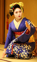 Geisha, or geiko as they are called in Kyoto, are traditionally entertainers whose skills include performing various Japanese arts such as classical music and dance. Apprentice geisha are called maiko literally &quot;dance child&quot;. It is the maiko with her white make-up and elaborate kimono and hairstyle, that has become the stereotype of a geisha to Westerners.