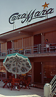 Cara Mara Motel Wildwood, NJ, neon sign during the day. 1963.