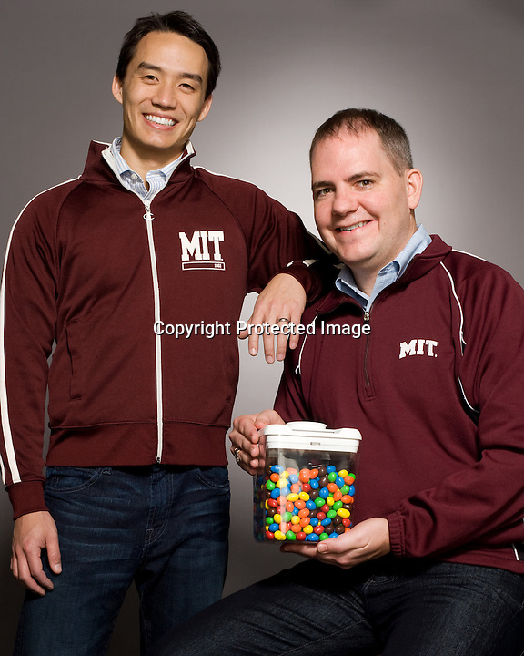 BNPS.co.uk (01202 558833)<br /> Pic: BNPS<br /> <br /> ***Please use full byline***<br /> <br /> Inventors Ryan Tseng and David Krippendorf.<br /> <br /> A chocolate-mad dad has invented a clever contraption to stop weak-willed dieters dipping into the biscuits and crisps.<br /> <br /> David Krippendorf would often ask his wife Jenny to hide junk food in the house so he could try and stick to a healthy diet and resist the temptation to eat it.<br /> <br /> But he was unable to ignore his sweet-tooth and always found himself hunting down the sugary snacks and binge eating.<br /> <br /> Eventually the father-of-one came up with an innovative idea that would keep his favourite treats locked away until after dinner.<br /> <br /> The Kitchen Safe is a plastic container with a lid that locks into place using small prongs for a certain length of time depending on the desired setting.<br /> <br /> To curb his cravings David places cookies, chocolates, sweets or crisps into the box and enters a timeframe from one minute to 10 days to lock them away for.<br /> <br /> The plastic receptacle will only open when the countdown has ended and the only other way to get into it is to physically smash it.<br /> <br /> The Kitchen Safe is currently being listed on Kickstarter, a website where members of the public can donate money to new products and ideas to get them manufactured.<br /> <br /> If it reaches the &pound;19,400 target, David expects it to go on sale before September this year for &pound;18.