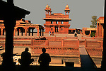 Asia, India, Uttar Pradesh, Fatehpur Sikri. A scenic silhouette view at Fatehpur Sikri.