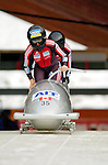 18 November 2005: Amanda Stepenko pilots Canada 4 to a 24th place finish at the 2005 FIBT AIT World Cup Women's Bobsleigh Tour at the Verizon Sports Complex, in Lake Placid, NY. Mandatory Photo Credit: Ed Wolfstein.