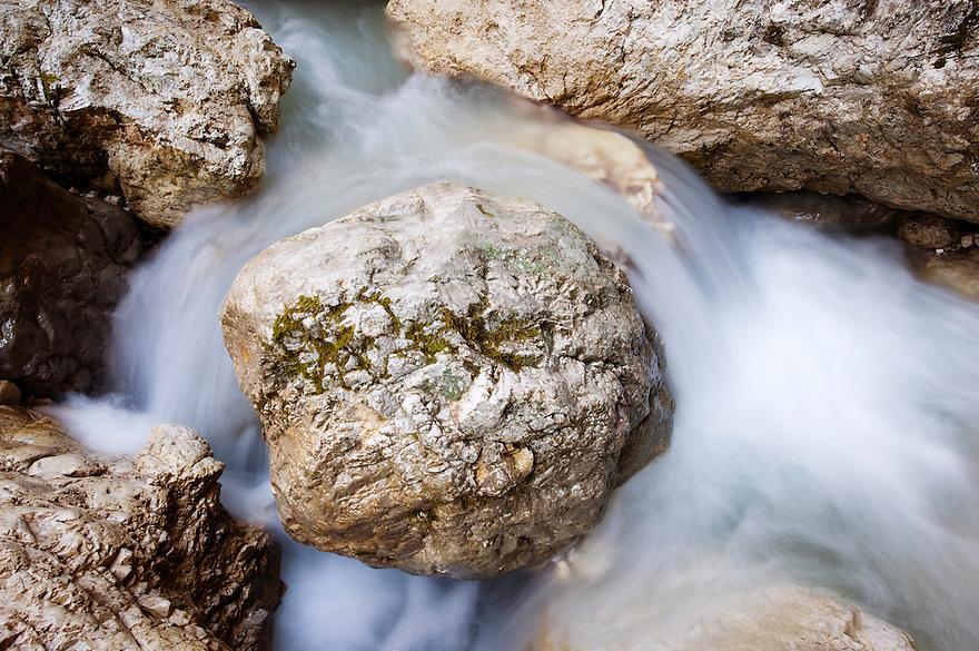 River Mlinarica, (Korita mlinarice, Mlinarica Canyon)<br /> Triglav National Park, Slovenia<br /> October 2008