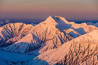 Mount Mather, Alaska range mountains, Denali National Park, interior, Alaska.
