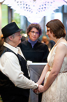 Lynn Childs, left, and Karen Swanson are married at Seattle City Hall on December 9, 2012. They were married along with 137 other couples.