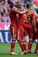FUSSBALL   1. BUNDESLIGA  SAISON 2012/2013   3. Spieltag FC Bayern Muenchen - FSV Mainz 05     15.09.2012 Mario Mandzukic und Xherdan Shaqiri   (v. li., FC Bayern Muenchen)