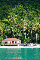 Maho Bay<br /> With the newly restored pavilion<br /> Virgin Islands National Park<br /> St. John<br /> U.S. Virgin Islands
