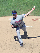 New York Mets pitcher Johnathan Niese (49) pitches in the fourth inning against the Washington Nationals at Nationals Park in Washington, D.C. on Sunday, July 31, 2011.  .Credit: Ron Sachs / CNP.(RESTRICTION: NO New York or New Jersey Newspapers or newspapers within a 75 mile radius of New York City)
