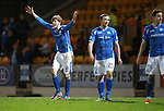 St Johnstone v Hearts..19.12.15  SPFL  McDiarmid Park, Perth<br /> Murray Davidson appeals for a second penalty<br /> Picture by Graeme Hart.<br /> Copyright Perthshire Picture Agency<br /> Tel: 01738 623350  Mobile: 07990 594431