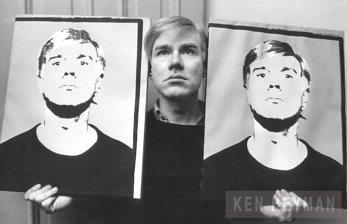 Andy Warhol with self portraits