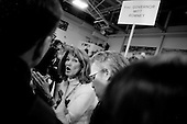 Manchester, New Hampshire.January 5, 2008..The spin room after the debates with first the Republicans and then the Democrats at Aselm College. .