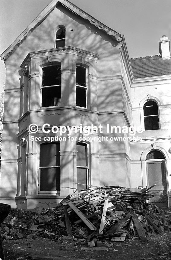 The Cyprus Avenue, Belfast, home of Ulster loyalist leader, Rev Ian Paisley, was the target for a bomb attack, December,  1973. 197312000769c..Copyright Image from Victor Patterson, 54 Dorchester Park, Belfast, United Kingdom, UK...For my Terms and Conditions of Use go to http://www.victorpatterson.com/Victor_Patterson/Terms_%26_Conditions.html