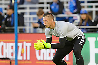 San Jose, CA - Friday April 14, 2017: David Bingham  prior to a Major League Soccer (MLS) match between the San Jose Earthquakes and FC Dallas at Avaya Stadium.
