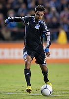 Santa Clara, California - Thursday September 19th, 2012: San Jose Earthquakes' Chris Wondolowski set to fire his league leading 20th goal during a game against Portland Timbers at Buck Shaw Stadium, Stanford, Ca    San Jose Earthquakes and Portland Timbers tied 2-2