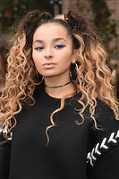 Elle Eyre arrives for the Topshop Unique AW17 show as part of London Fashion Week AW17 at Tate Modern, London, UK. <br /> 19 February  2017<br /> Picture: Steve Vas/Featureflash/SilverHub 0208 004 5359 sales@silverhubmedia.com