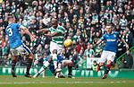 Moussa Dembele sclaffs a shot