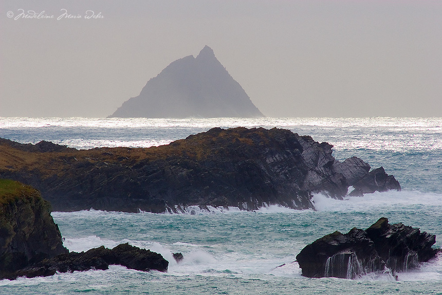 View on Skellig Michael from Valentia Island, County Kerry, Ireland / sk027 I love the Skelligs,