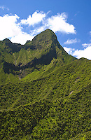 Aerial of the pali deep in the West Maui mountains.