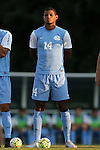 28 August 2015: North Carolina's Omar Holness (JAM). The University of North Carolina Tar Heels hosted the Florida International University Panthers at Fetzer Field in Chapel Hill, NC in a 2015 NCAA Division I Men's Soccer match. North Carolina won the game 1-0