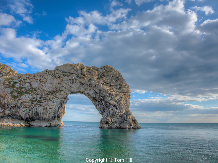 Durdle Door Sea Arch, Jurassic Coast, Dorset, England, United Kingdom    Natural limestone arch