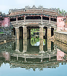 The famous ancient Japanese Covered Bridge in Hoi An, built in the late 16th century.