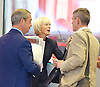 Andrew Marr Show arrivals <br /> at BBC Broadcasting House, London, Great Britain <br /> 18th September 2016 <br /> <br /> <br /> Nigel Farage MEP <br /> ex-leader of UKIP <br /> <br /> Jane Moore - columnist for the Sun <br /> <br /> <br /> Photograph by Elliott Franks <br /> Image licensed to Elliott Franks Photography Services