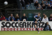 Bobby Convey for the free kick which resulted in the winning goal. The San Jose Earthquakes defeated the New England Revolution 2-1 at Buck Shaw Stadium in Santa Clara, California on May 21st, 2011.