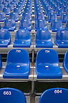 empty numbered seats
