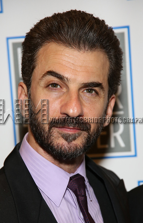 Michael Aronov attends the Opening Night Performance press reception for the Lincoln Center Theater production of 'Oslo' at the Vivian Beaumont Theater on April 13, 2017 in New York City.