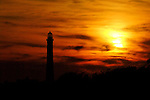 Fire Island Lighthouse and beach, late summer, 2009