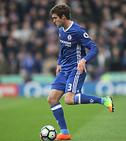 Chelsea's Marcos Alonso<br /> <br /> Photographer Mick Walker/CameraSport<br /> <br /> The Premier League - Stoke City v Chelsea - Saturday 18th March 2017 - bet365 Stadium - Stoke<br /> <br /> World Copyright &copy; 2017 CameraSport. All rights reserved. 43 Linden Ave. Countesthorpe. Leicester. England. LE8 5PG - Tel: +44 (0) 116 277 4147 - admin@camerasport.com - www.camerasport.com