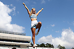 17 September 2016: UNC cheerleader. The University of North Carolina Tar Heels hosted the James Madison University Dukes at Kenan Memorial Stadium in Chapel Hill, North Carolina in a 2016 NCAA Division I College Football game.