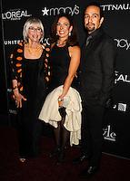 NEW YORK CITY, NY, USA - SEPTEMBER 18: Rita Moreno, Fernanda Fisher and Lin Manuel Miranda arrive at the 2014 Icons Of Style Gala Hosted By Vanidades held at the Mandarin Oriental Hotel on September 18, 2014 in New York City, New York, United States. (Photo by Celebrity Monitor)