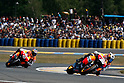 May 23, 2010 - Le Mans, France - Dani Pedrosa powers his bike during the MotoGP race of the French Grand Prix at le Mans circuit, France, on May 23, 2010. (Photo Andrew Northcott/Nippon News).