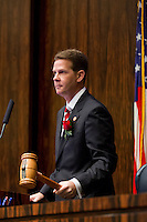 TALLAHASSEE, FLA. 3/3/15-Senate President Andy Gardiner, R-Orlando, gavels the Senate to order at the start of opening day of the 2015 Legislative Session Tuesday at the Capitol in Tallahassee.<br /> <br /> COLIN HACKLEY PHOTO