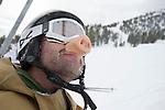 Snow and lines at Mt. Rose Ski Tahoe