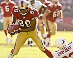 San Francisco 49ers wide receiver Tai Streets (89) catches ball and makes touchdown run on Sunday, October 27, 2002, in San Francisco, California. The 49ers defeated the Cardinals 38-28.