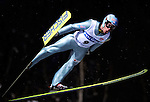 MARCIN BACHLEDA of Poland  soars through the air during the FIS World Cup Ski Jumping in Sapporo, northern Japan in February, 2008.