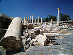 Roman temple at the ruins of Bet She'an Israel. Bet shean is located in the northn regions of Israel, Bet She'an was the site of an Egyptian administrative center during the XVIII and XIX dynasties. In Hellenistic times it was a Scythian city from circa 625 to 300 B.C., and the biblical city Beth-shean. In 64 BC it was taken by the Romans, rebuilt, and made the center of the Decapolis, the &quot;Ten Cities&quot; of Samaria that were centers of Greco-Roman culture. The city contains the best preserved Roman theater of ancient Samaria.<br />