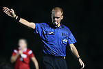22 September 2016: Referee Nick Balcer. The North Carolina State University Wolfpack hosted the University of Notre Dame Fighting Irish at Dail Soccer Field in Raleigh, North Carolina in a 2016 NCAA Division I Women's Soccer match. Notre Dame won the game 1-0.